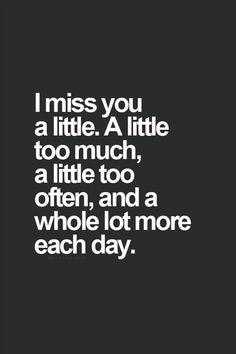 I miss you...  ❥