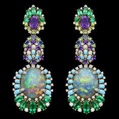 Dior semi precious stone drop earrings