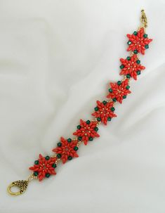 Our SuperDuos helped Artbeads reviewer LS4avon make this poinsettia bracelet! They're the perfect shape for flower petals!