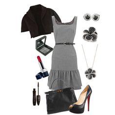 Style #style #fashion closet dress, cloth, dream closet, outfit, fashion bug, dress styles, grey dresses, classic black, style fashion