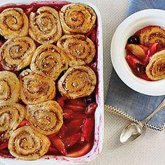 Apple-Cherry Cobbler with Pinwheel Biscuits | MyRecipes.com