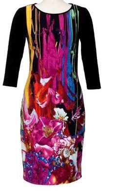 Joseph Ribkoff Painterly bold strokes of color.  Style #143830