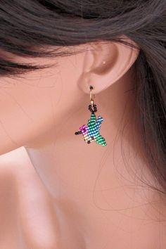 Hummingbird Earrings - Seed Bead Earrings - Bead Woven Earrings on Etsy, $15.00