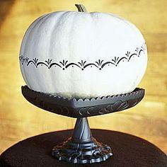 White & Black pumpkin!