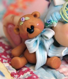 *POLYMER CLAY ~ Linda Peterson: CRAFTS { DIY: JEWELRY: HANDMADE HOME} Creative LIFE: Polymer Clay -Springtime Bunny and Bear