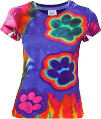 Electric Paws Tie-Dye Tee at The Animal Rescue Site