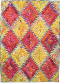 String Me Up quilt pattern by Lori Allison in Kaffe Fassett fabric