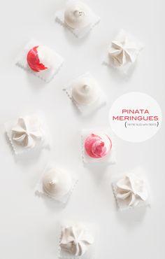 Pinata meringues - filled with treats!