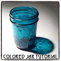 DIY Colored Jar Tutorial
