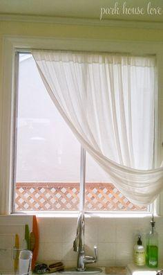 DIY roman shade from a mini blind
