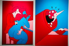 """Parra """"Tracy Had A Hard Sunday"""" Exhibition at Jonathan LeVine Gallery"""