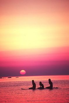 pink sunset. // surf.  beach. salt life.