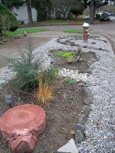 parking strip rock garden