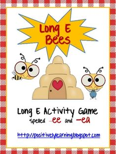 Here's a fast-paced learning activity-game designed to reinforce the long e spellings -ee and -ea.