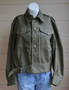 Vintage Military Shirt Jacket British Army by founditinatlanta, $70.00
