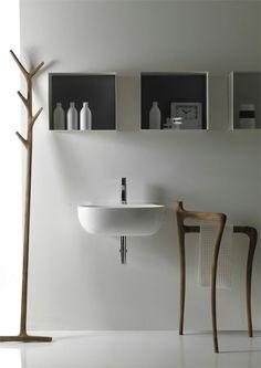 Modern Rustic Bathroom Furniture Collection Ergo by Galassia - - -  frábært handklæðahengi