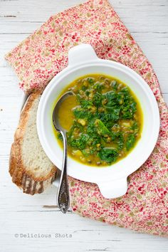 Mung Bean and Kale Soup Recipe. A very hearty, filling, comforting and healthy soup. This is definitely a keeper.