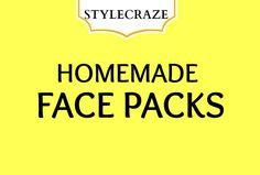 HOMEMADE FACE PACKS / STYLECRAZE.COM