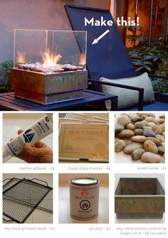Make It: A Sleek Outdoor Fire Pit on the Cheap!