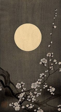 Branch and Moon, by Ohara Koson
