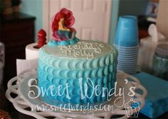 Ombre Little Mermaid Cake