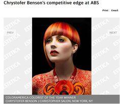 Press - Chrystofer Benson   Matrix Artistic Director   International Award-Winning Colorist   Editorial Stylist
