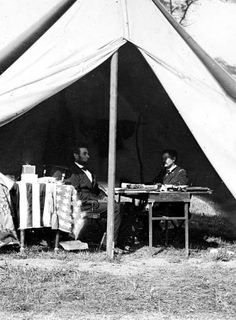Abraham Lincoln meets with Maj. Gen. George McClellan in October 1862, following the Battle of Antietam