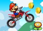 Super Mario ha una nuova missione e stavolta non affronterà i pericoli a piedi ma in sella alla sua moto. Non è un abile motociclista e ha bisogno del tuo aiuto. Buona fortuna!