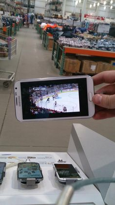 This hockey fan (@wizardofOzzYip) is catching the game at work. #NeverMissAGame