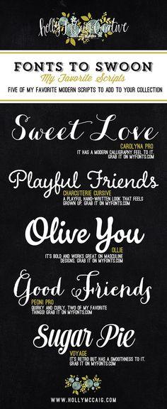My Favorite Script Fonts
