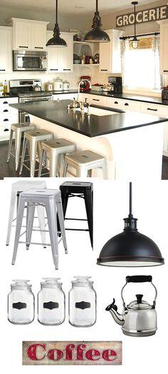 Modern Industrial Kitchen.