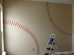 baseball wall for Dallin's room?