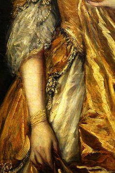 Détail from Mrs Grace Dalrymple Elliot (1754-1823) Thomas Gainsborough 1778