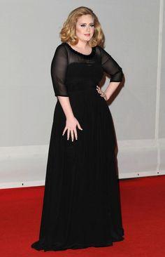 Adele no Brit Awards 2012.