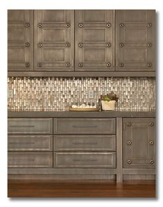 Five Faves From Fieldstone Hill Design :: kitchen inspiration. Amazing metallic tile back splash