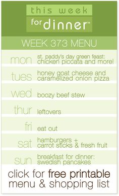 weekly dinner plans from @AbdulAziz Bukhamseen Week for Dinner including free printable menu and shopping list!