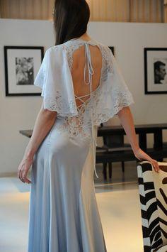 Jane Woolrich blue gown
