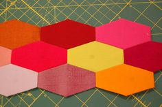 English Paper Piecing by the workroom, via Flickr