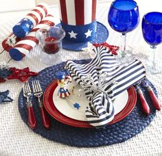 July 4th table setting. #Vocalpoint #July4th