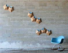 wall pockets made of cardboard