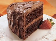 """HERSHEY'S famous """"Perfectly Chocolate"""" Chocolate Cake. Must try."""