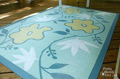 #springintothedream  Porch Inspiration:  Painted Porch Rug.  Amazing design with an amazing tutorial by an amazing blogger ....