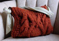 knitknitknits: Chunky Everyday Cable Bag