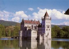 Anif Castle, Salzburg, Austria. A water castle on a lake. It was built in the 16th century by the Archbishop of Saltzburg.