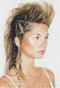 braid mohawk. Would work well as an updo for undercut or mohawk