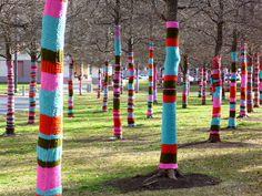 Guerrilla knitting art