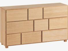 HANA II Oak 9 drawer chest