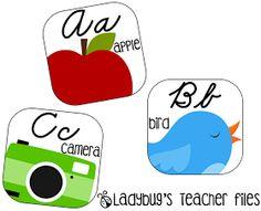 Ladybug's Teacher Files: Bright and Clear Decor (Cursive Alphabet Line)
