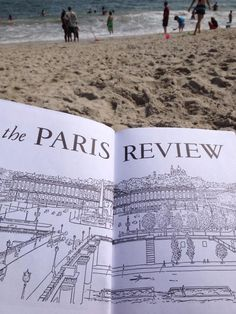 Getting sand in my Paris Review. #readeverywhere