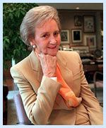 Katharine Graham was the first woman to serve as CEO of a Fortune 500 company, the Washington Post. More: http://en.wikipedia.org/wiki/Katharine_Graham